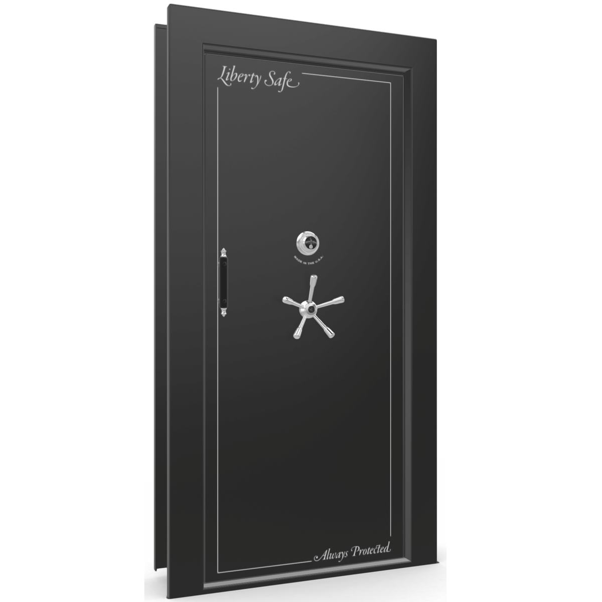 Vault Door Series | In-Swing | Right Hinge | Blue Gloss | Mechanical Lock
