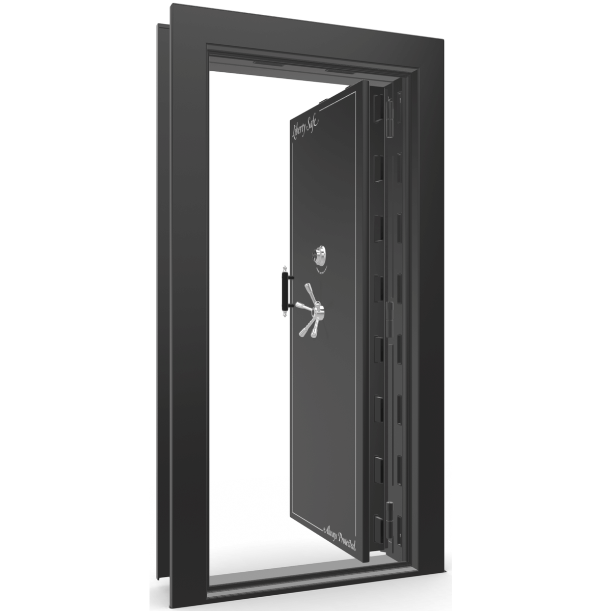 Vault Door Series | In-Swing | Right Hinge | Blue Gloss | Electronic Lock