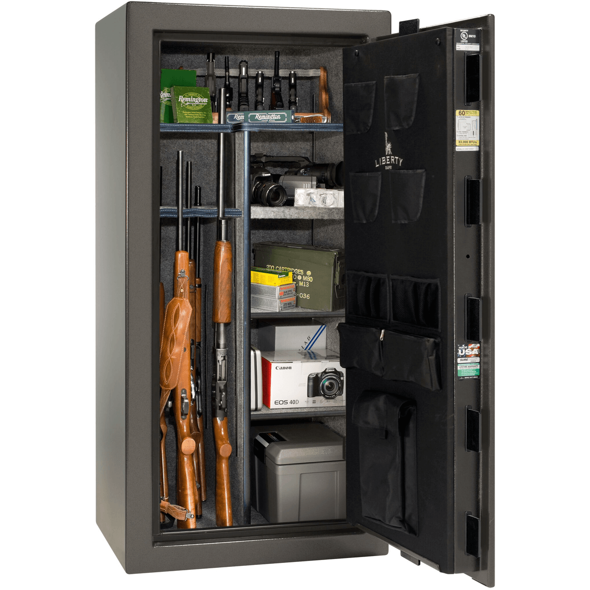 "Colonial | 23 | Level 3 Security | 60 Minute Fire Protection | Gray Gloss | Black Mechanical Lock | 60.5""(H) x 30""(W) x 25""(D)"