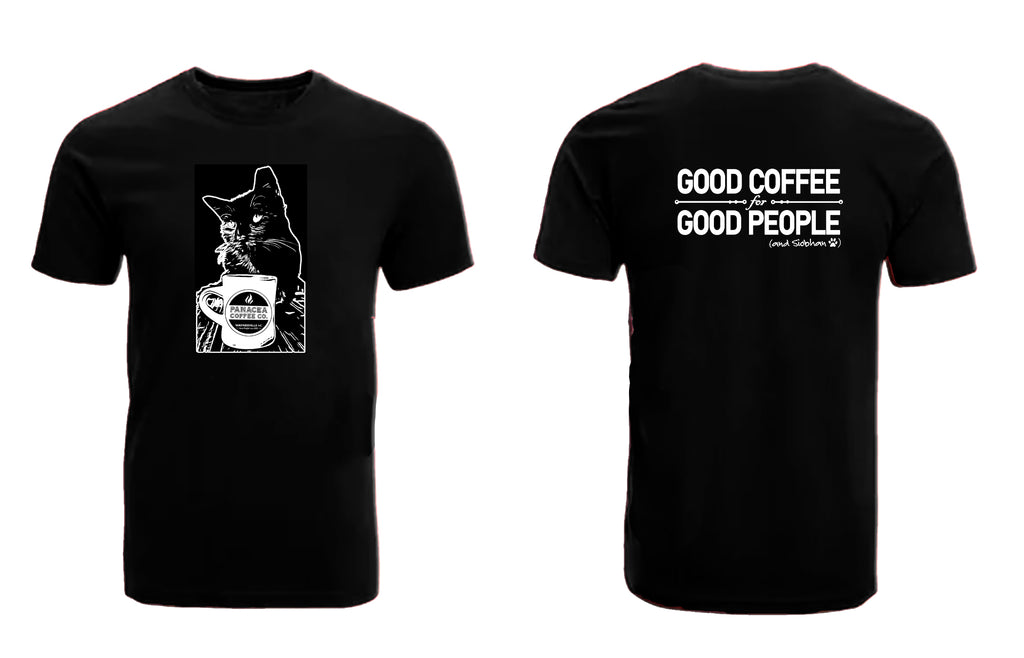 Siobhan The Panacea Coffee Cat T-Shirt (Short Sleeve)