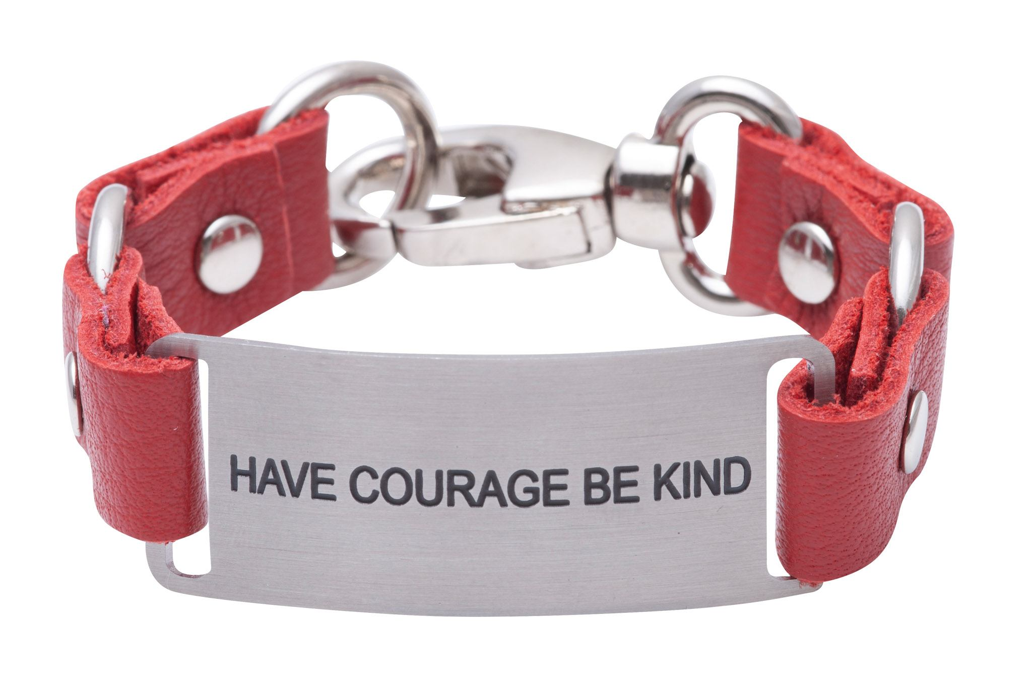 Message Bracelet Fruit Punch Full Grain Leather