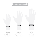 Load image into Gallery viewer, Cynthia H Designs Bracelet Sizing Chart Gunmetal Pearlized Full Grain Leather