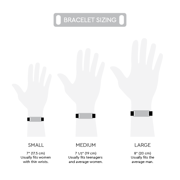 Cynthia H Designs Bracelet Sizing Chart Live in the Moment
