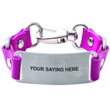 Load image into Gallery viewer, Bracelet Road ID Choose Your Saying