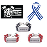 Load image into Gallery viewer, Charity Message Bracelet ALS Stevens Nation