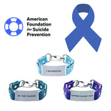 Load image into Gallery viewer, Charity Message Bracelet American Foundation For Suicide Prevention
