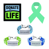 Load image into Gallery viewer, Charity Message Bracelet Donate Life