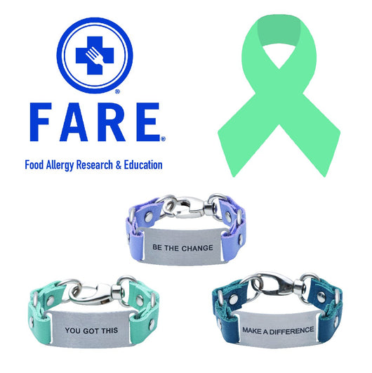 Charity Message Bracelet Food Allergy Research and Education