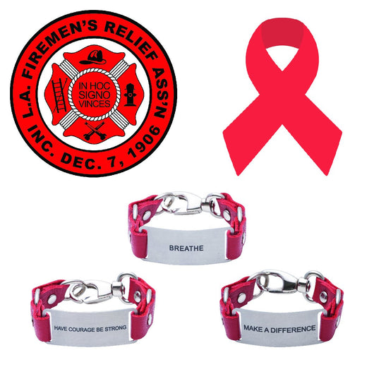 Message Bracelet Los Angeles Firemen's Association Widows and Orpans