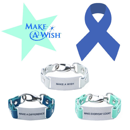 Inspiration Message Bracelet Make a Wish Foundation