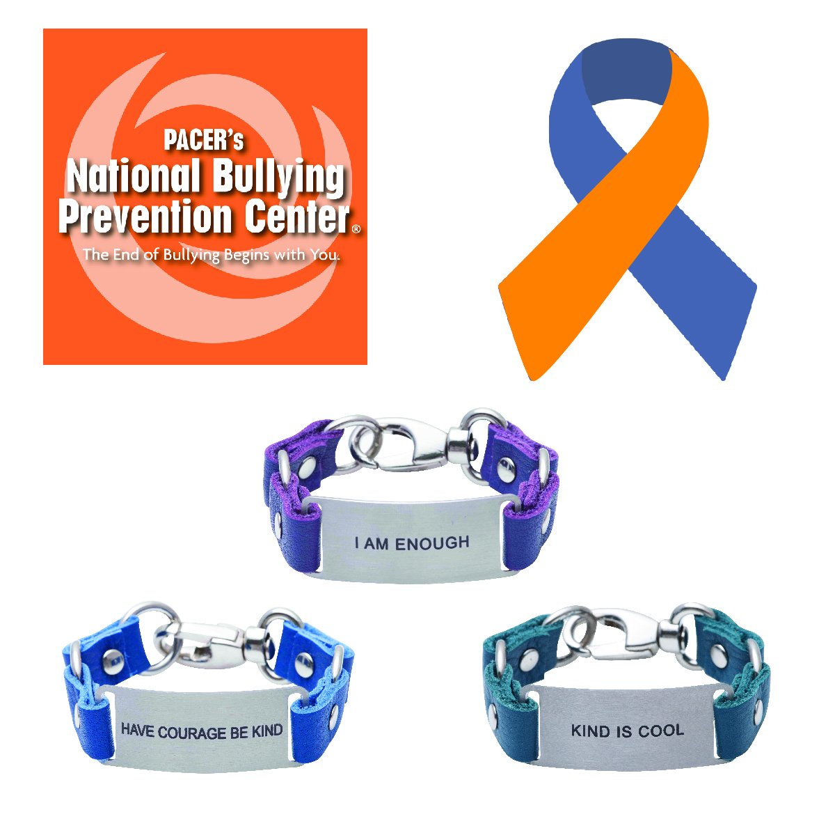 Inspirational Message Bracelet National Bullying Prevention Center