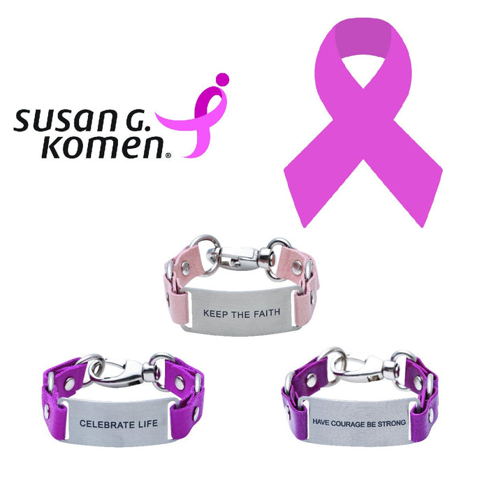 Message Bracelet Susan G. Komen For the Cure
