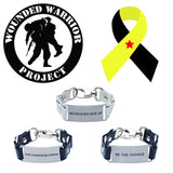Load image into Gallery viewer, Inspiration Message Bracelet Wounded Warrior Project