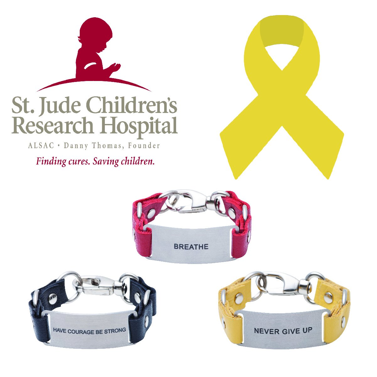 Charity Message Bracelet St. Jude Children's Research Hospital | Cynthia H. Designs