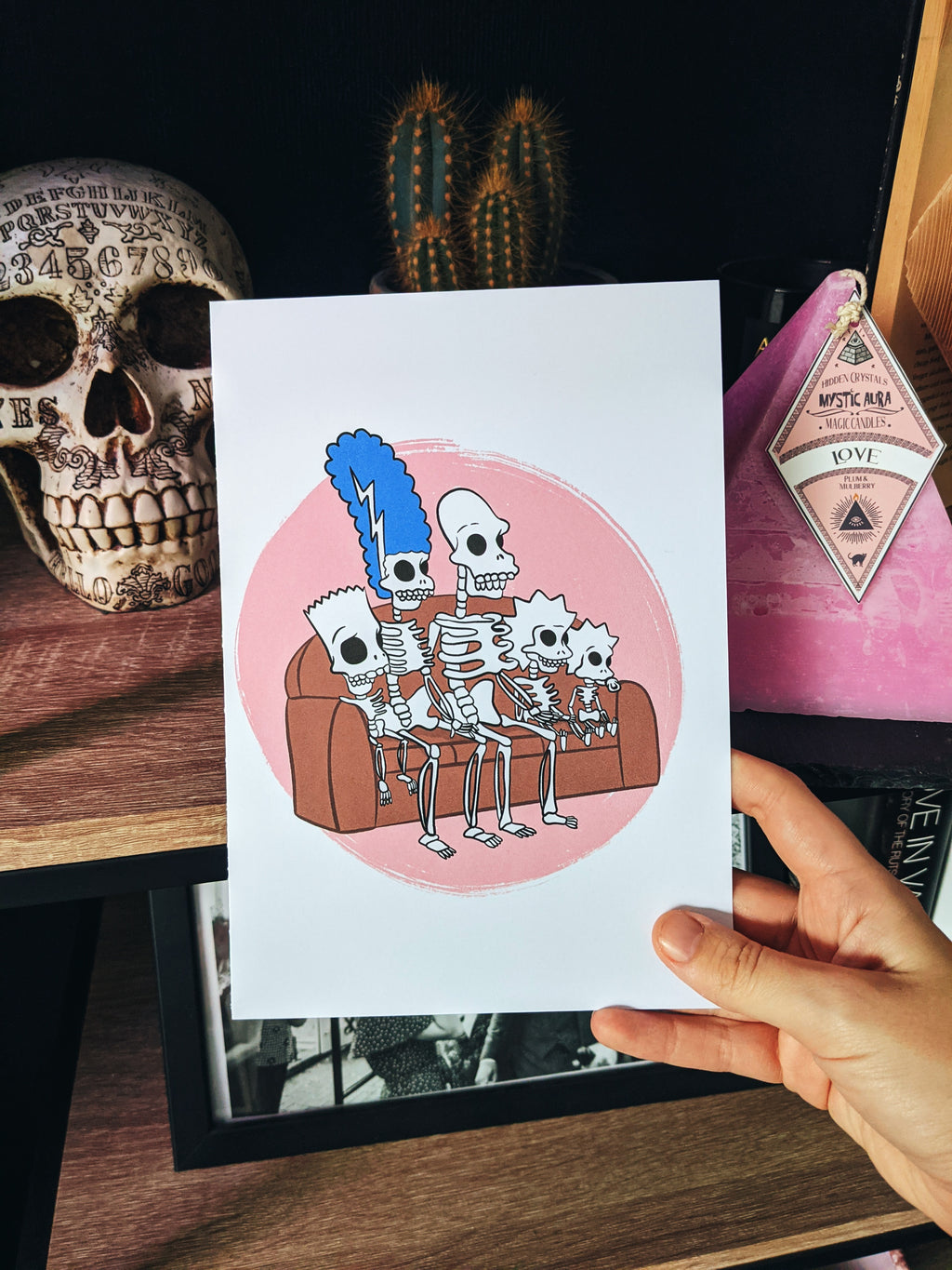 The Simpsons Skeletons Halloween Print