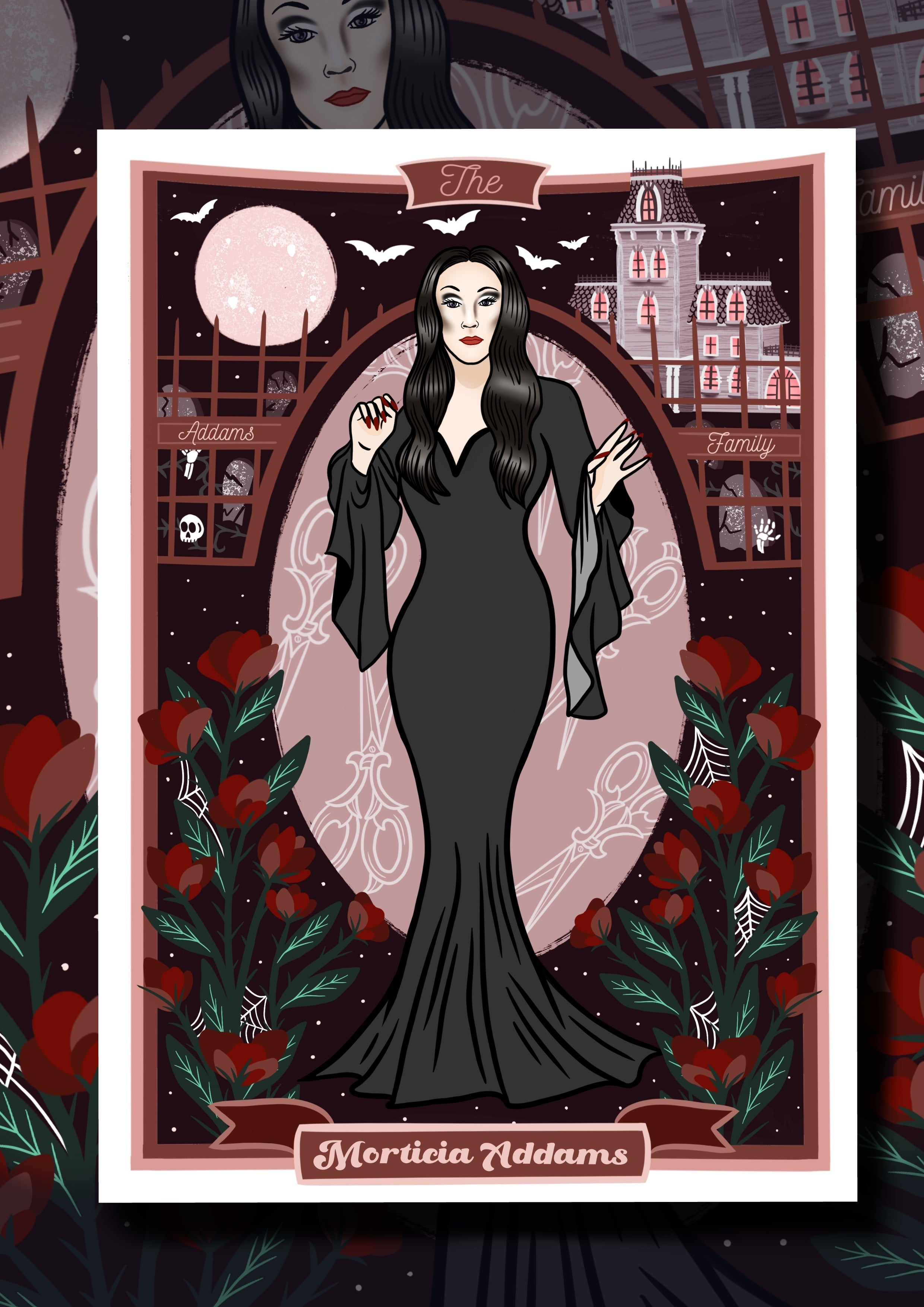 Morticia Addams The Addams Family Values Print