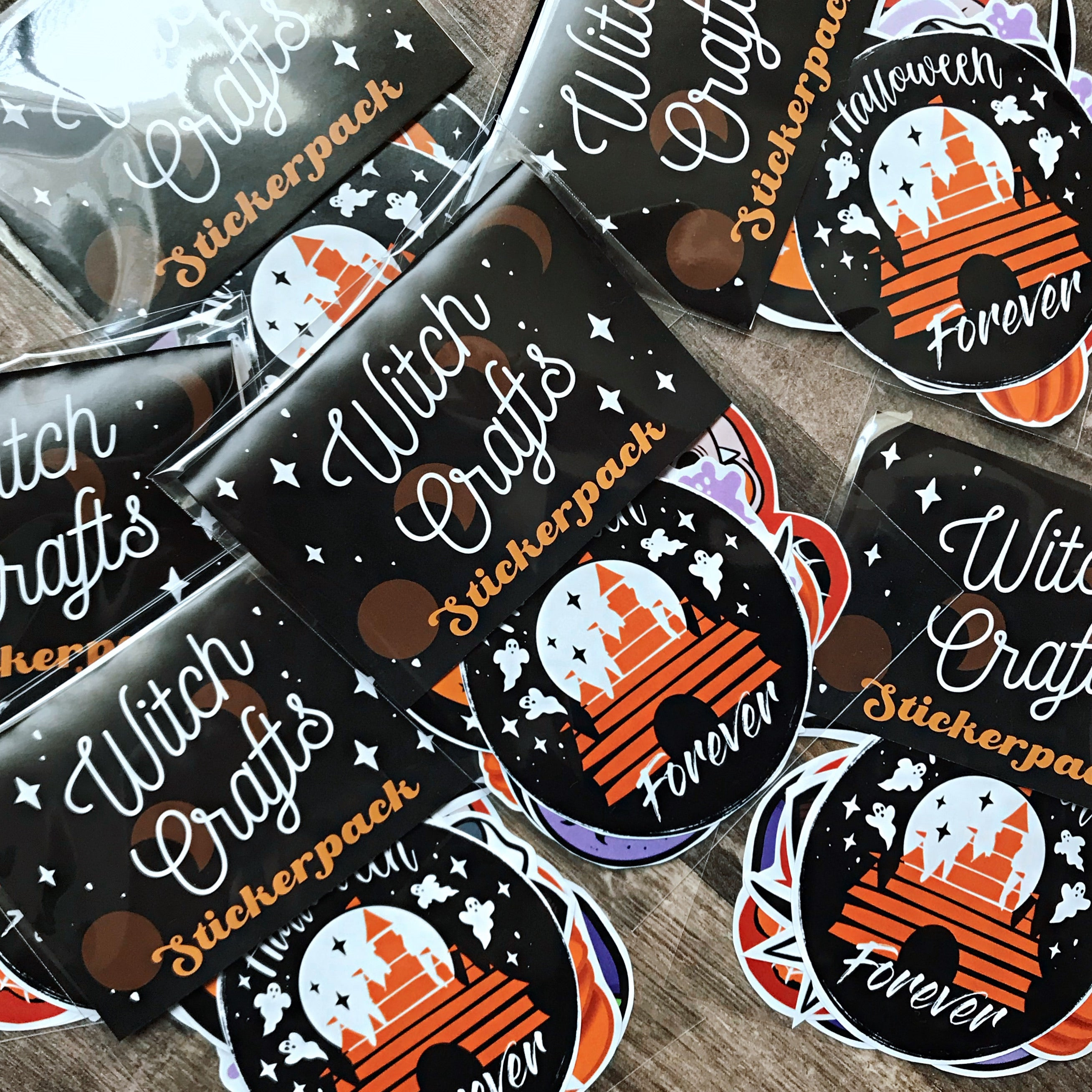 Halloween Disneyland Sticker Pack