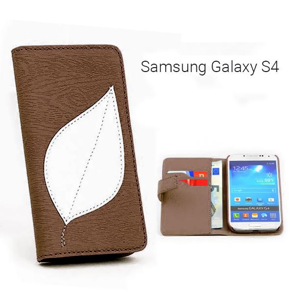 Αναδιπλούμενη Θήκη πορτοφόλι (Leaf) για Samsung Galaxy S4 - Leaf Flip Wallet Cover Case for Samsung S4 GL-3360