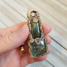 Load image into Gallery viewer, Labradorite Clay Pendant