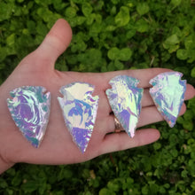 Load image into Gallery viewer, Angel Aura Opalite Hand Knapped Arrowhead 2""