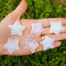 Load image into Gallery viewer, Opalite Hand Knapped Star 1.5""