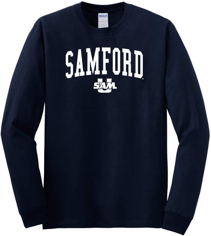 J2 Sport Samford University Bulldogs NCAA Jumbo Arch Unisex Long Sleeve T-Shirt