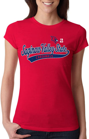 Saginaw Valley State Cardinals NCAA Old School Sport Tail Junior T-Shirt