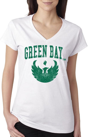 J2 Sport Wisconsin Green Bay Phoenix NCAA Jumbo Bleach Junior T-Shirt