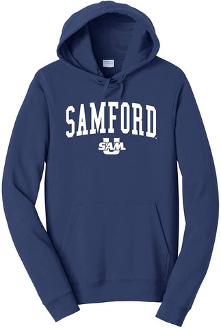 J2 Sport Samford University Bulldogs NCAA Jumbo Arch Unisex Hooded Sweatshirt