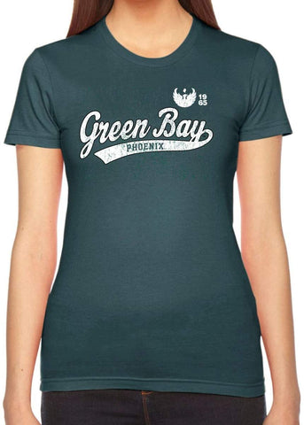 Wisconsin Green Bay Phoenix NCAA Old School Sport Tail Junior T-Shirt