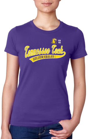 Tennessee Tech Golden Eagles NCAA Old School Sport Tail Junior T-Shirt