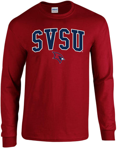 Saginaw Valley State University Cardinals NCAA Jumbo Arch Unisex Long Sleeve T-Shirt