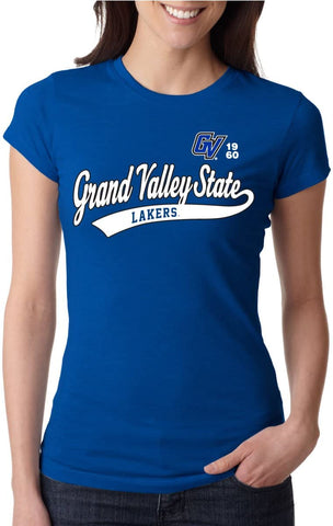 J2 Sport Grand Valley State Lakers NCAA Old School Sport Tail Junior T-Shirt
