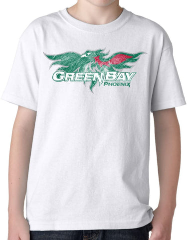 J2 Sport Wisconsin Green Bay Phoenix NCAA Big Mascot Youth T-Shirt