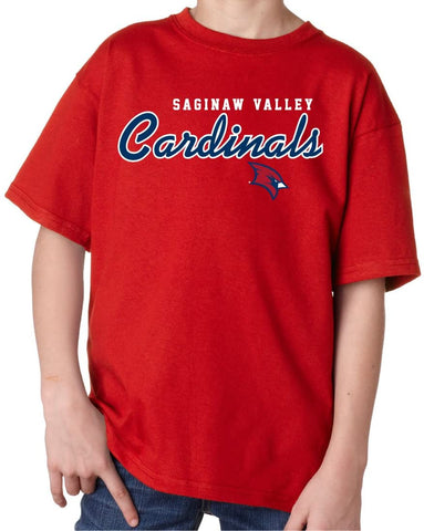 Saginaw Valley State Cardinals NCAA Machine Script Youth T-Shirt