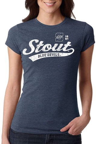 Wisconsin Stout Blue Devils NCAA Women's T-Shirts