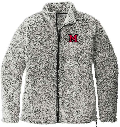 J2 Sport Miami of Ohio University Redhawks NCAA Ladies Cozy Fleece Jacket