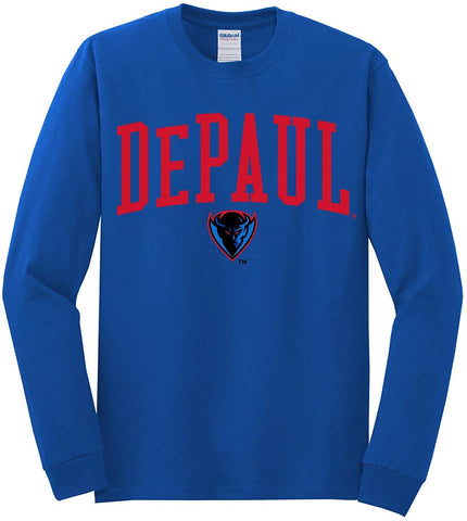J2 Sport DePaul University Blue Demons NCAA Unisex Long Sleeve T-Shirts
