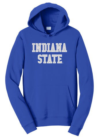 J2 Sport Indiana State University Sycamores NCAA Block Unisex Hooded Sweatshirt