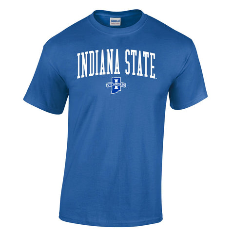 J2 Sport Indiana State University Sycamores NCAA Jumbo Arch Unisex T-Shirt