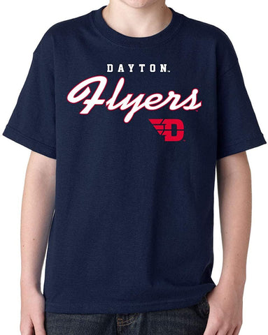 Dayton Flyers Machine Script Youth T-shirt J2 Sport University of Dayton Flyers NCAA Youth Apparel