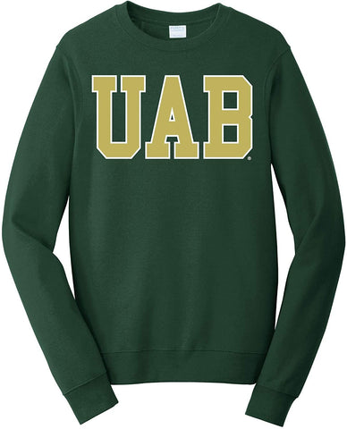 J2 Sport University of Alabama at Birmingham Blazers NCAA Block Forest Unisex Crew Neck Sweatshirt
