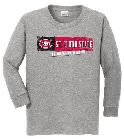 J2 Sport SCSU St. Cloud State University Huskies NCAA Youth Long Sleeve T-Shirt