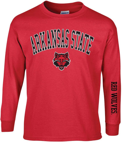 J2 Sport Arkansas State University Red Wolves NCAA Unisex Long Sleeve T-Shirts