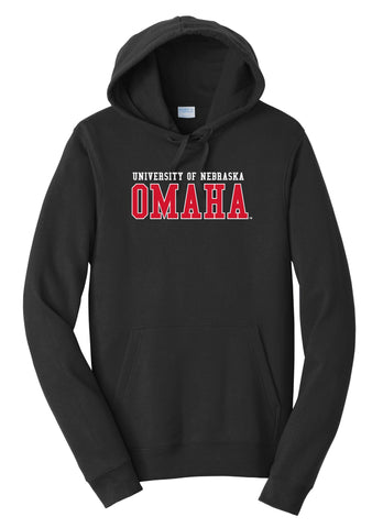 J2 Sport University of Nebraska at Omaha Mavericks NCAA Block Unisex Hooded Sweatshirt