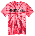 J2 Sport Arkansas State University Red Wolves NCAA Unisex Tie Dye T-Shirt