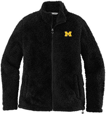 J2 Sport U of M University of Michigan Wolverines NCAA Ladies Cozy Fleece Jacket