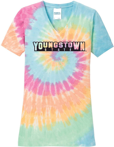 J2 Sport YSU Youngstown State University Penguins NCAA Tie Dye T-Shirt