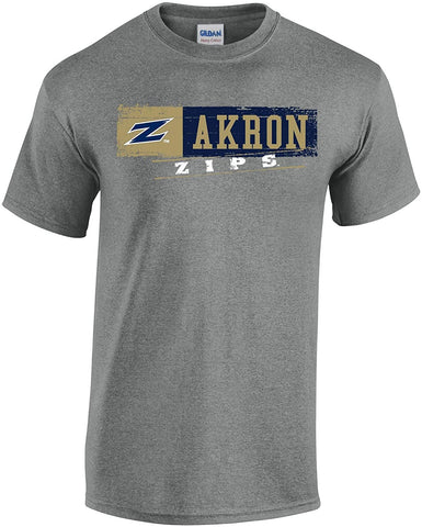 J2 Sport University of Akron Zips NCAA Unisex Sticker T-shirt