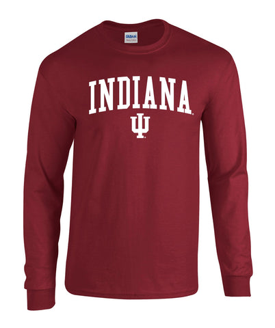 J2 Sport Indiana University Hoosiers NCAA Jumbo Arch Youth Long Sleeve T-Shirt